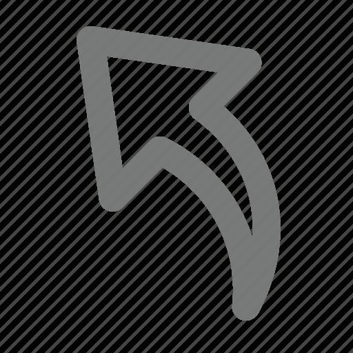 arrow, back, feedback, reply, send icon