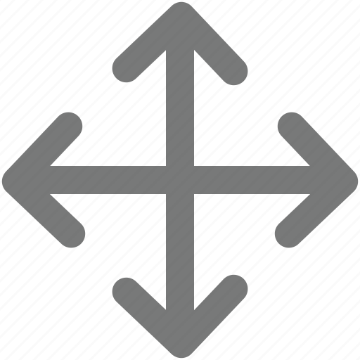 arrow, center, cross, direction, four, indicator, pointer icon