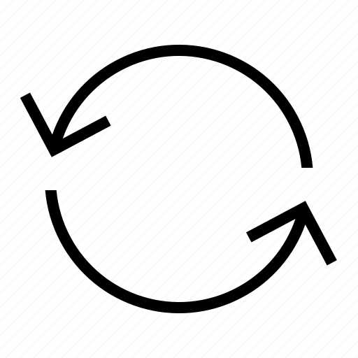 arrow, bucle, circle, cycle, system icon