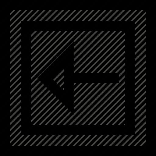 arrow, back, shape icon