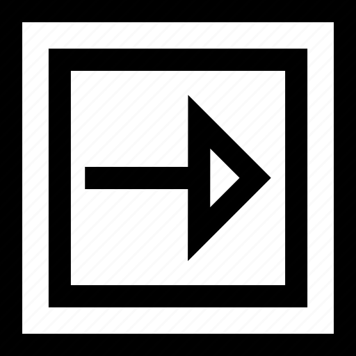 arrow, design, go, shape icon
