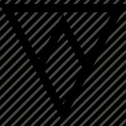 arrow, down, pointer, triangle icon