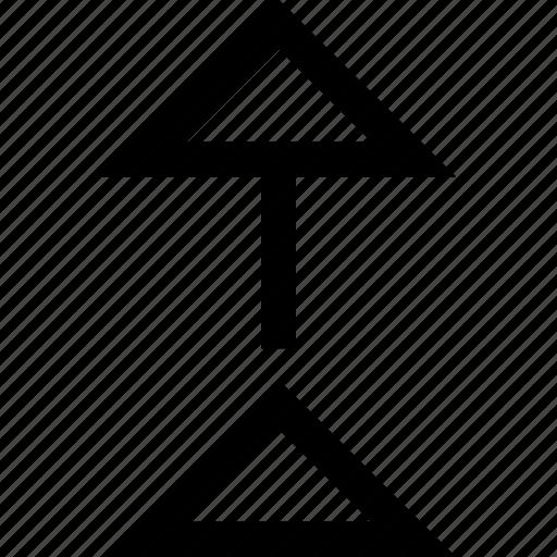 arrow, pointer, shape icon