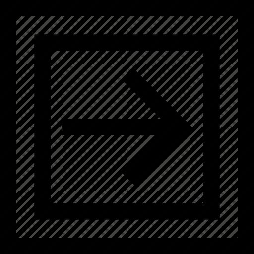 arrow, right, shape icon