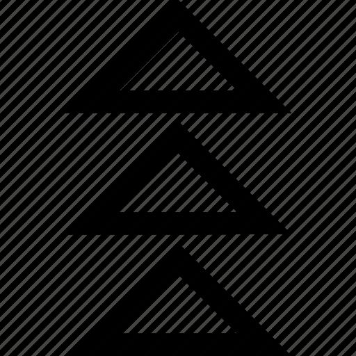 abstract, arrows, three icon