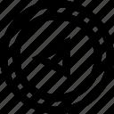 back, exit, shape icon