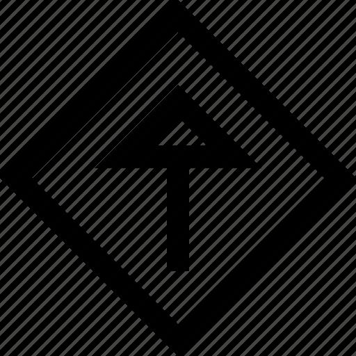 design, shape, up icon