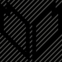 direction, down, sharp icon