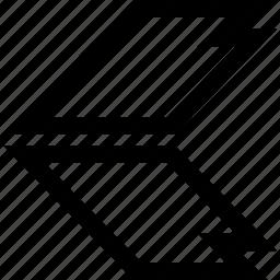 direction, left, sharp icon