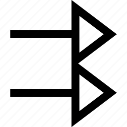 arrow, double, point icon