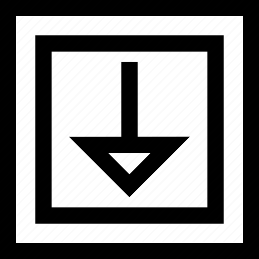 design, down, shape icon