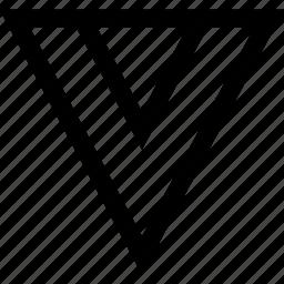 arrow, down, pointer icon