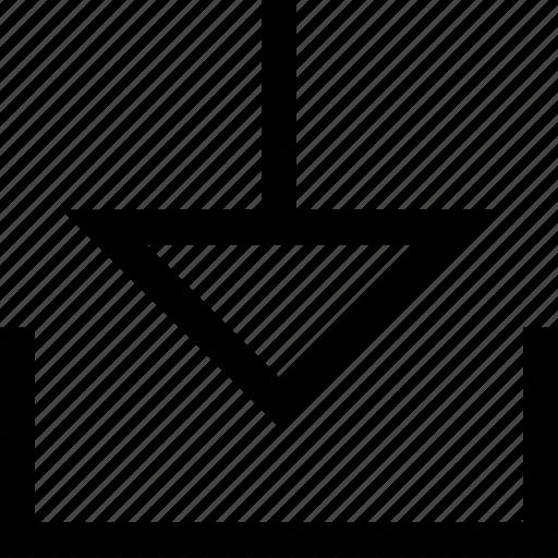 design, down, download icon