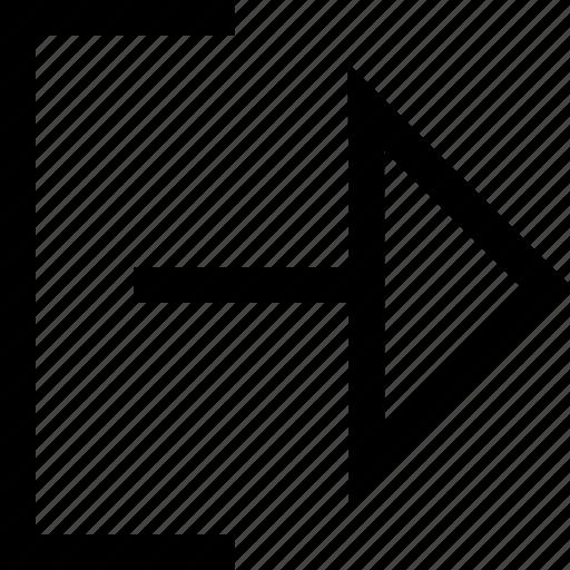 design, go, right, shape icon
