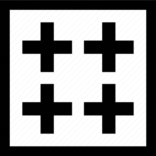 design, four, pluses, shape icon