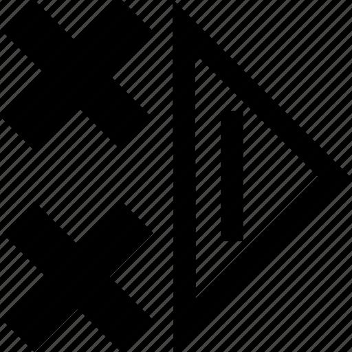 right, shape, triangle icon