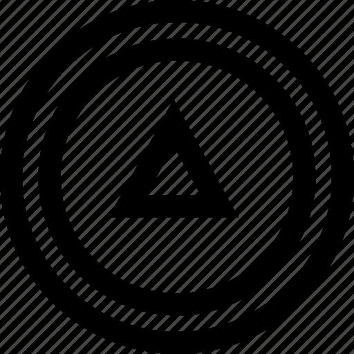arrow, shape, upload icon