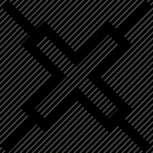 creative, design, stop, x icon