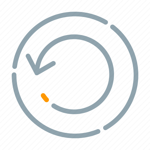 arrow, circle, refresh, restart, return icon