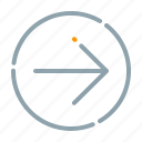 arrow, circle, forward, next, right icon