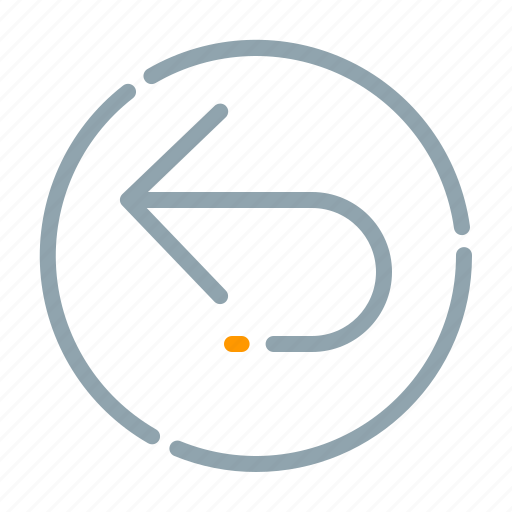 arrow, circle, left, turn icon