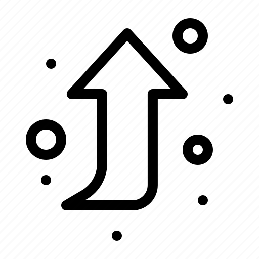 arrow, forward, right, up icon