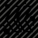 arrow, chevron, left