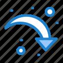 arrow, down, refresh, reload, right icon