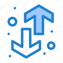 direction, down, transfers, trend, up icon