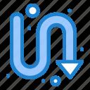 arrows, directional, indicator, turning icon