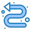 arrows, directional, indicator, left icon