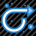 arrow, forward, repeat, right icon
