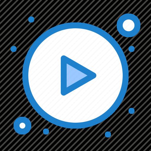 arrows, button, play icon