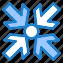 arrows, enlarge, minimize