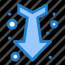arrow, down, full, straight icon