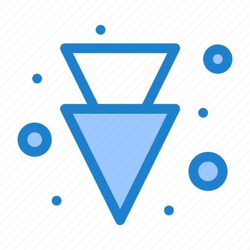 arrow, down, full icon