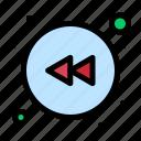 arrow, left, rewind