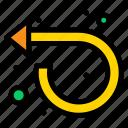 arrow, forward, left, repeat icon