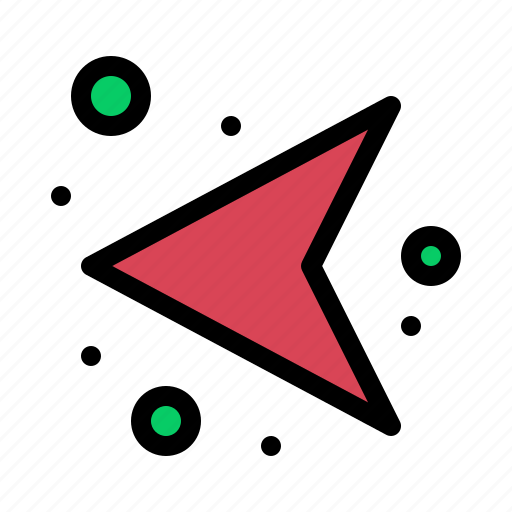 arrows, direction, left, network icon