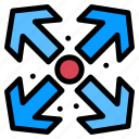 arrows, enlarge, maximize