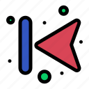 arrows, back, forward, left icon