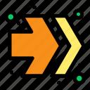 arrows, fast, forward, right icon