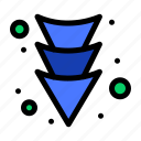 arrow, down, full icon