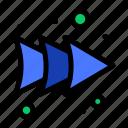 arrow, forward, right