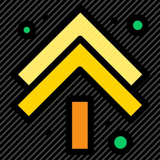 arrow, arrows, double, up icon