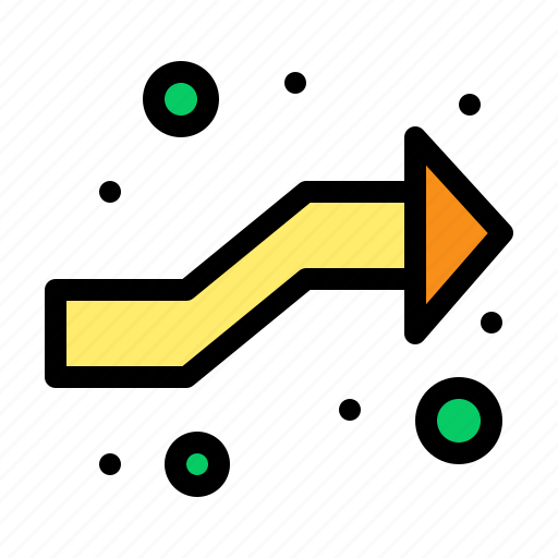 arrows, intersect, intersection, right icon