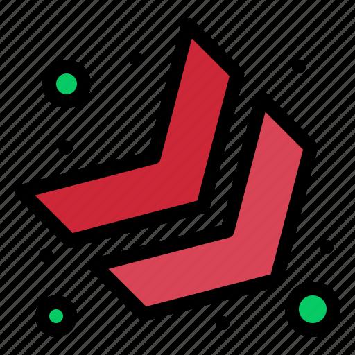 arrow, chevron, down, right icon