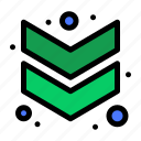 arrow, chevron, down icon