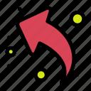 arrow, left, share, up