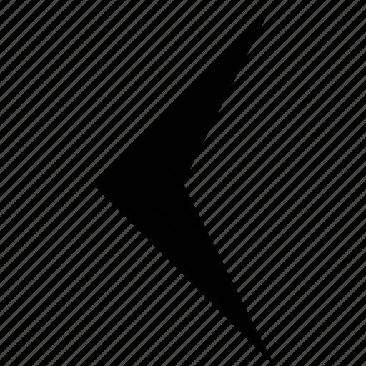 app button, arrow, left, point, pointer icon